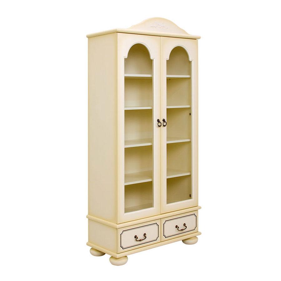 Купить Шкаф книжный со стеклом WOODRIGHT WILLIE WINKIE BRIGANTINE ivory