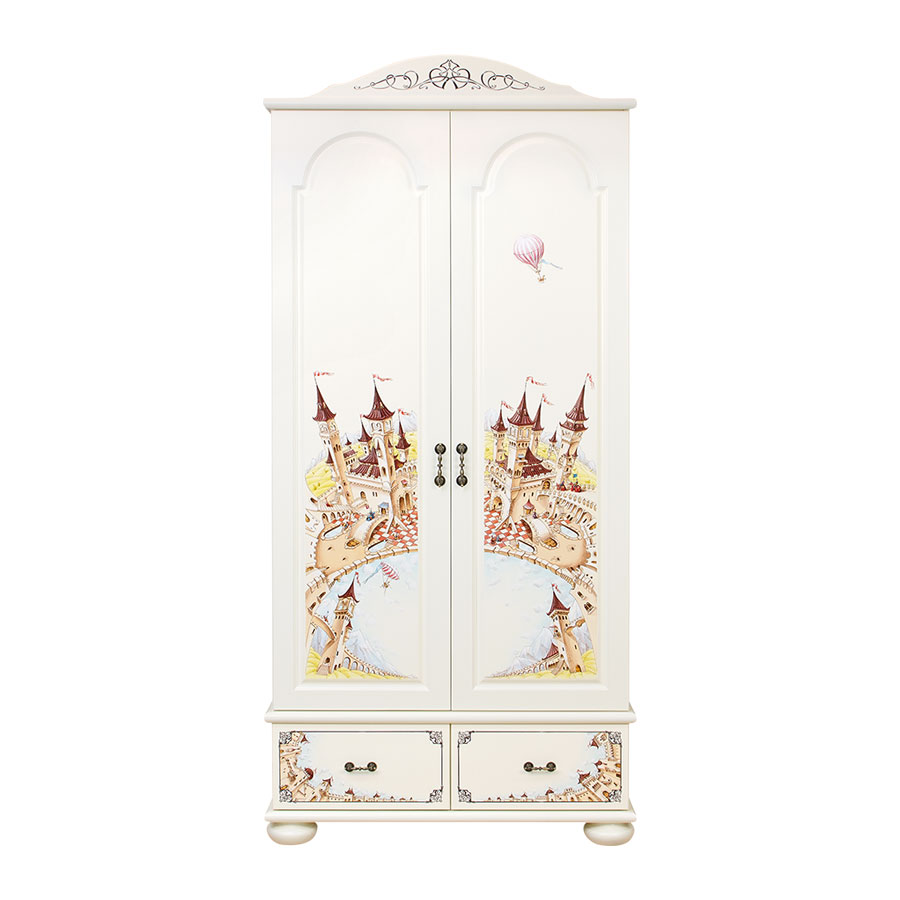 Шкаф для одежды Woodright Willie Winkie Fantasy Kingdom белыйШкафы, стеллажи<br><br>