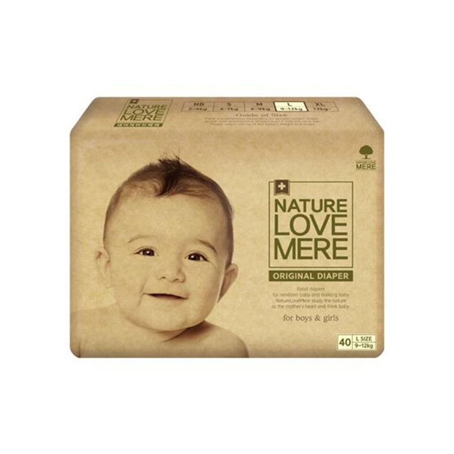 Подгузники Nature Love Mere original Basic Diaper L 9-12кг 40шт. бежевая упаковка