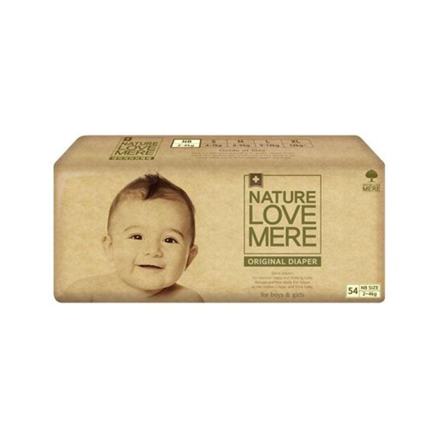 Подгузники Nature Love Mere original Basic Diaper Nb 2-4кг 54шт. бежевая упаковка
