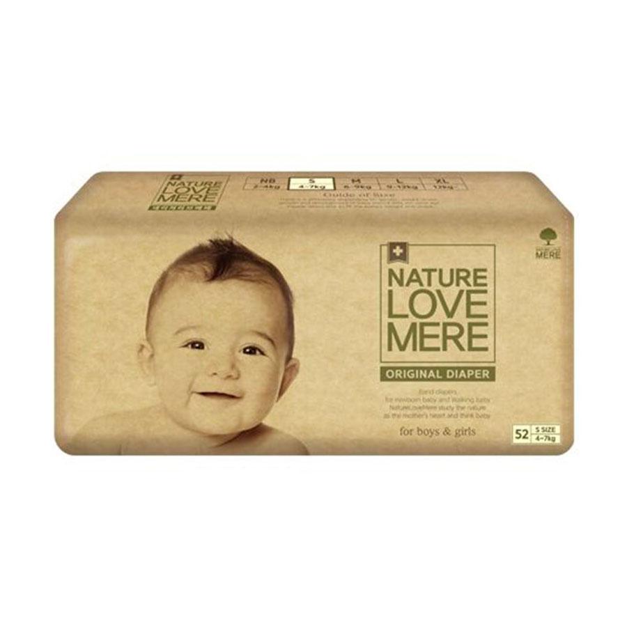 Подгузники Nature Love Mere original Basic Diaper S 4-7кг 52шт. бежевая упаковка