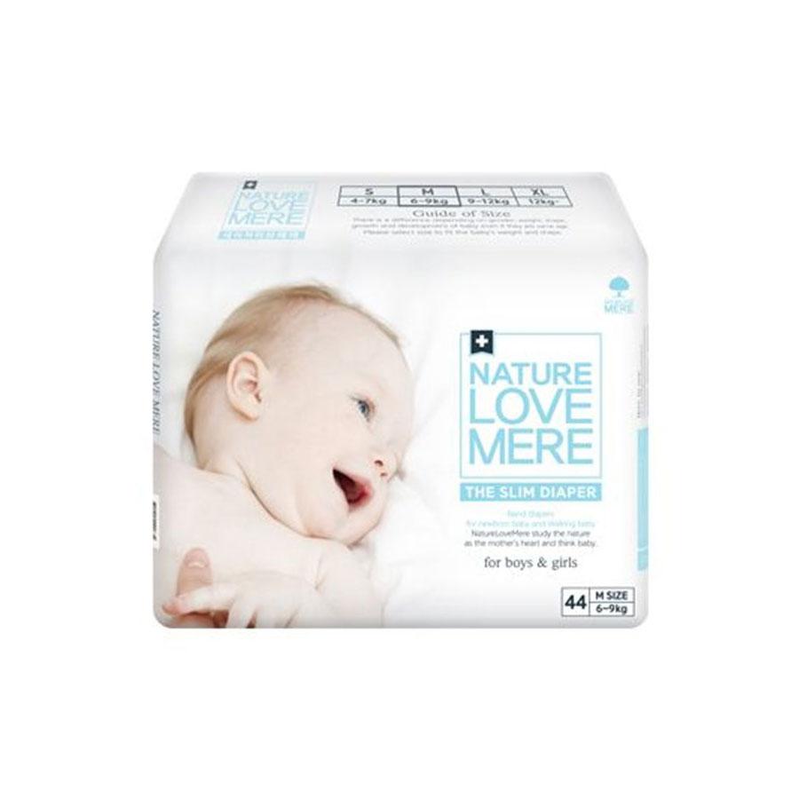 Подгузники Nature Love Mere Gold Diaper M6-9кг 44шт. белая коробка