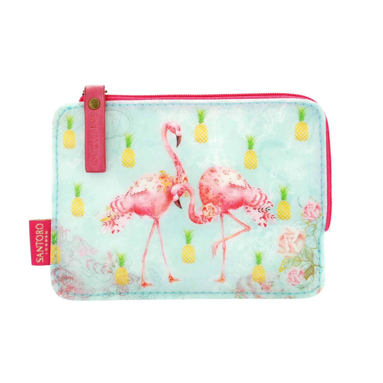 Купить Кошелек на молнии, серия Фламинго 10, 2х14, 7х1, 1 см Santoro London