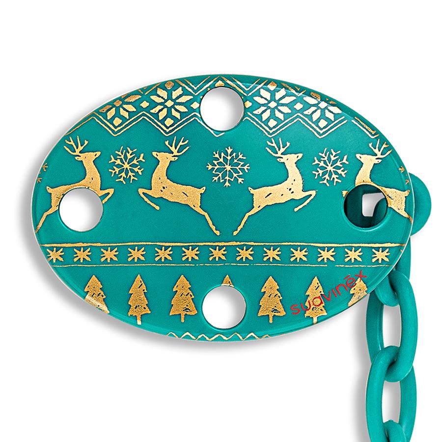 Купить Держатель для пустышки Suavinex Winter collection с овальным зажимом