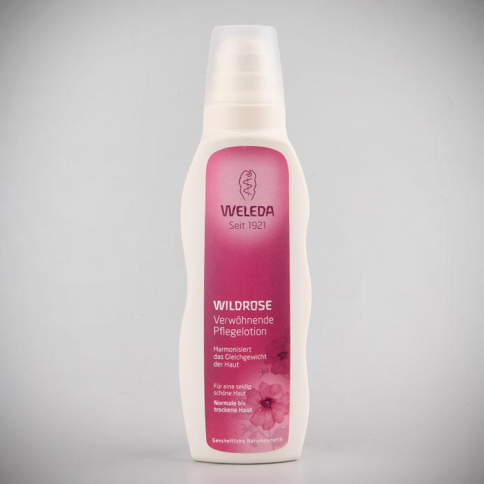 Молочко Weleda для тела розовое, гармонизирующее