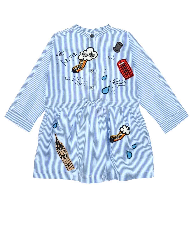 Платье-рубашка с аппликациями London IconsПлатья, Сарафаны<br><br>