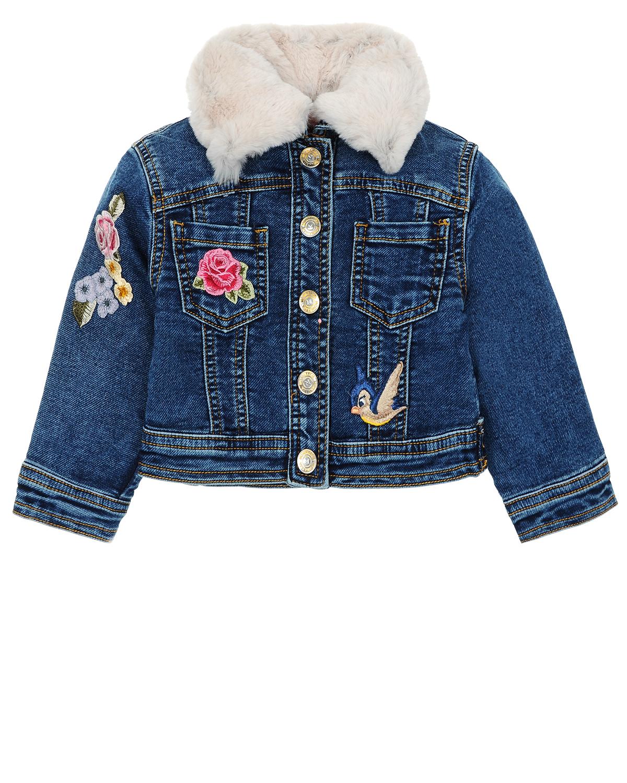 Куртка джинсовая MonnaLisa BebeКуртки демисезонные<br><br>