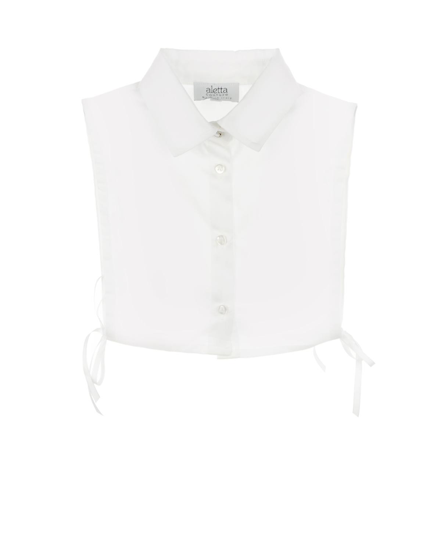 Ворот Aletta  сьемный для платья рубашечный воротник пуговица-стразаУкрашения<br><br>