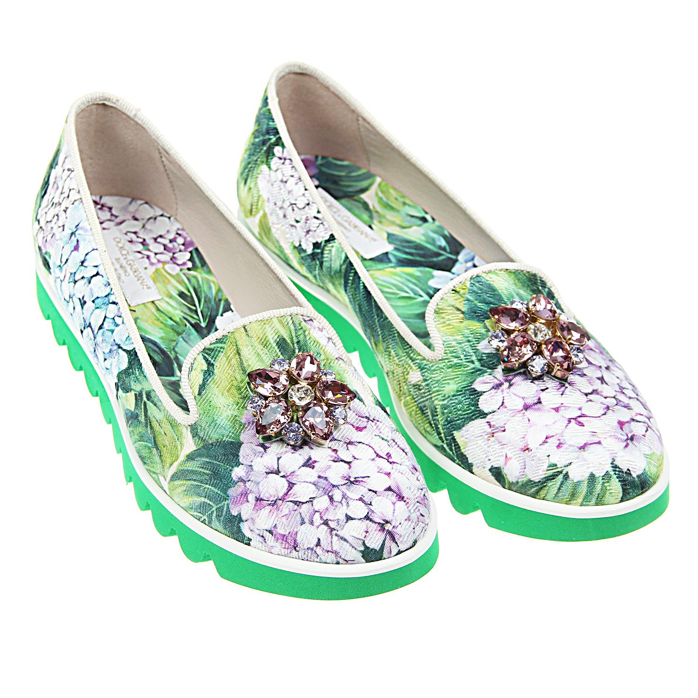 Слипперы Dolce&amp;Gabbana для девочекМокасины, Слипоны<br><br>
