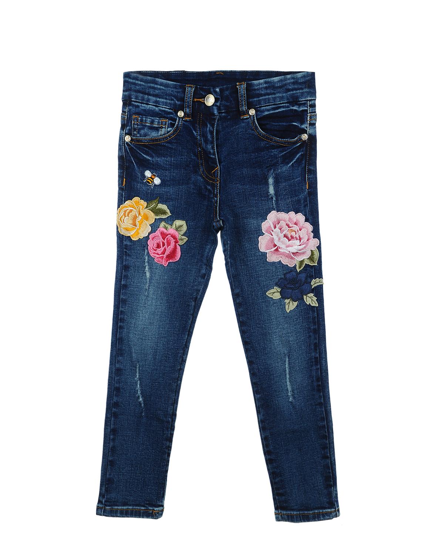 Брюки джинсовые MonnaLisa Chic для девочекДжинсы<br><br>