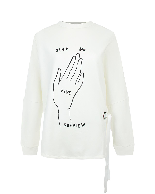 "Толстовка с декором ""give me five"" 5 Preview"