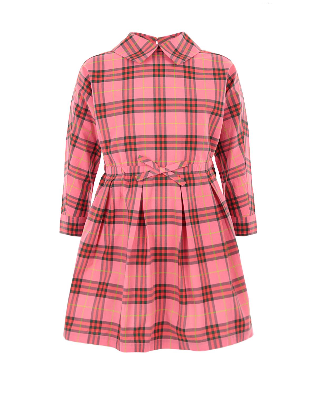 Купить со скидкой Розовое платье Burberry в клетку детское