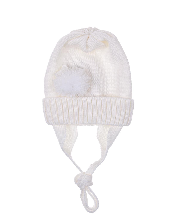 Купить Шапка Catya детская, Белый, 100%шерсть