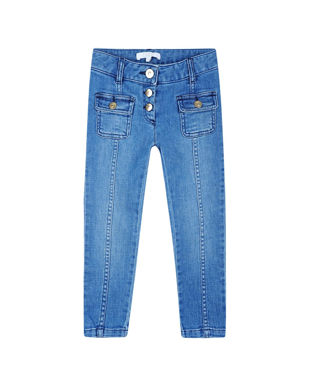 Купить Брюки джинсовые Chloe детские, Голубой, 99%хлопок+1%эластан