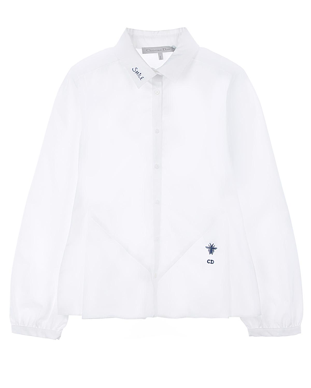 Купить Рубашка Dior детская, Белый, 100%хлопок