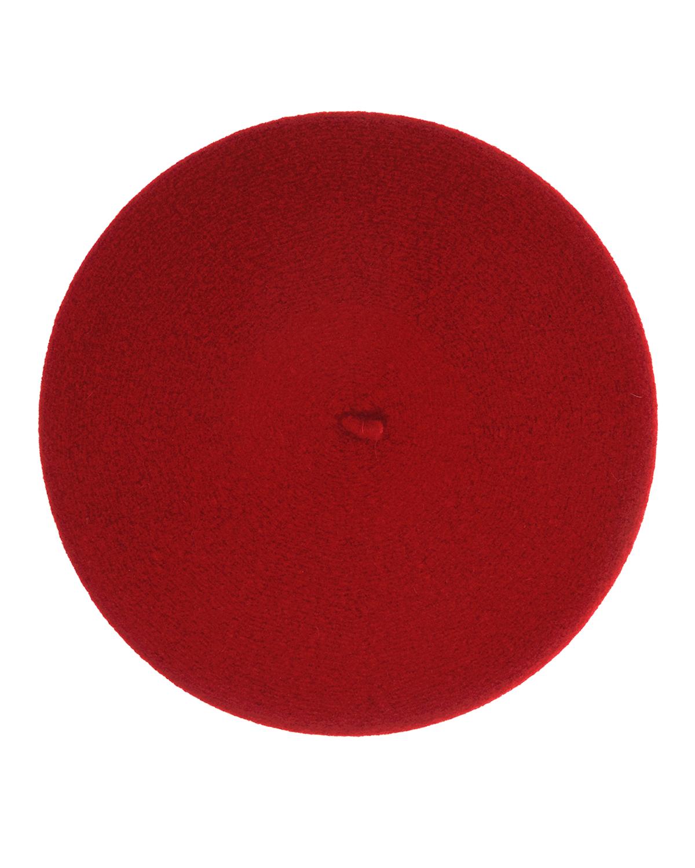 Купить Берет Dior детский, Красный, 100%шерсть