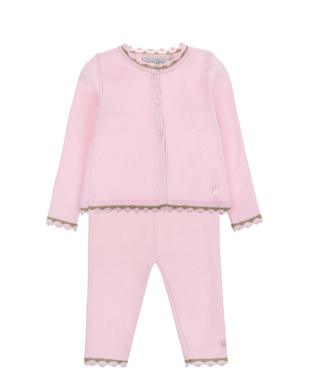 Купить Комплект Dior детский, Розовый, 88%хлопок+12%кашемир, 64%полиэстер+36%металлизированная нить