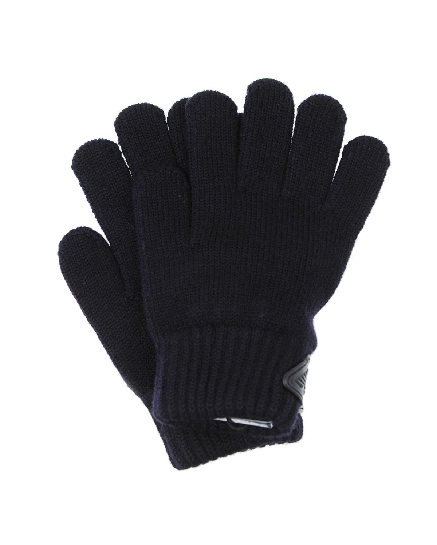 Вязаные перчатки с логотипом Emporio Armani