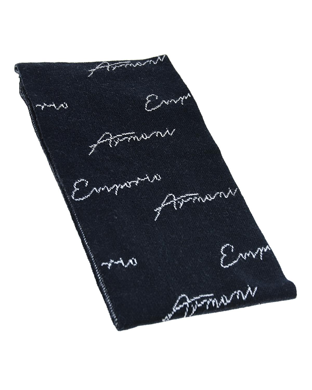Шарф с контрастным принтом Emporio Armani