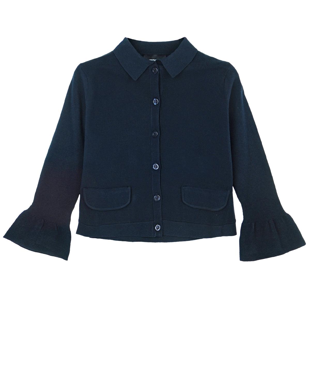 Купить Пиджак на пуговицах Emporio Armani детский, Синий, 83%вискоза+17%полиэстер