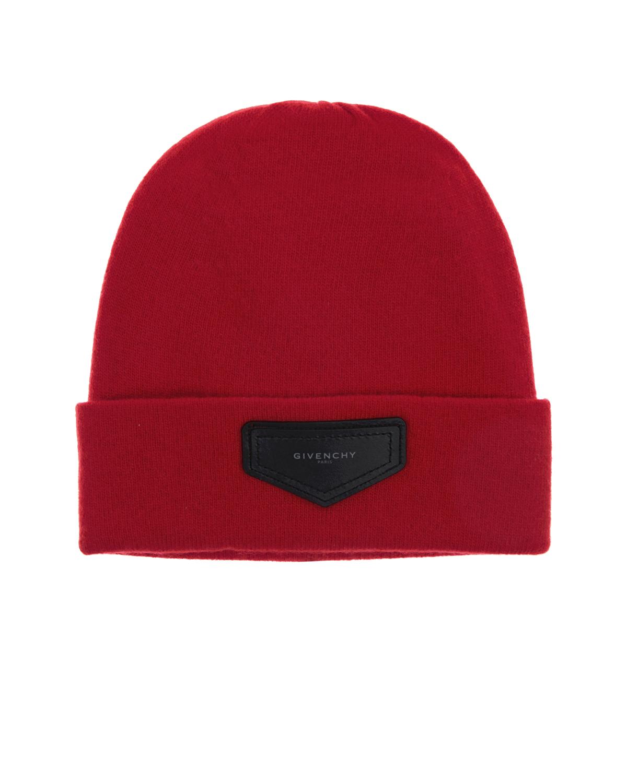 Купить Шапка из шерсти и кашемира Givenchy детская, Красный, 70%шерсть+30%кашемир
