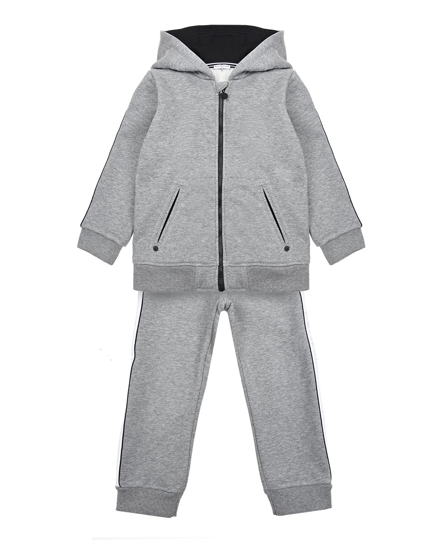 Купить Костюм спортивный Givenchy детский, Серый, 100%хлопок, 98%хлопок+2%эластан, 86%хлопок+14%полиэстер