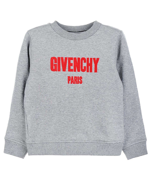 Купить Свитшот с логотипом Givenchy детский, Серый, 86%хлопок+14%полиэстер, 98%хлопок+2%эластан