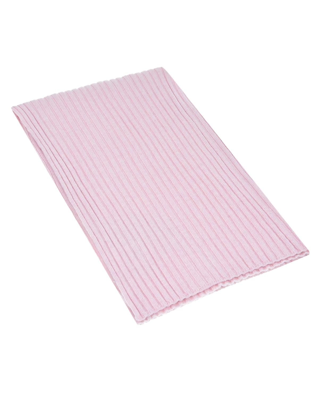 Розовый кашемировый шарф La Perla детский фото