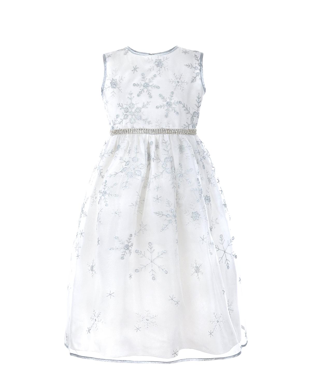 Платье с вышивкой и стразами Lesy детское фото