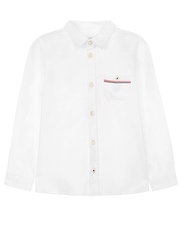 Рубашка из хлопка с нагрудным карманом Tartine et Chocolat детская фото