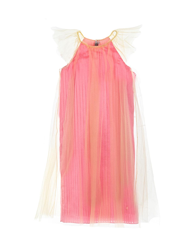 Купить Платье Dior детское, Розовый, 100%полиамид, 88%полиэстер+12%полиамид, 100%шелк
