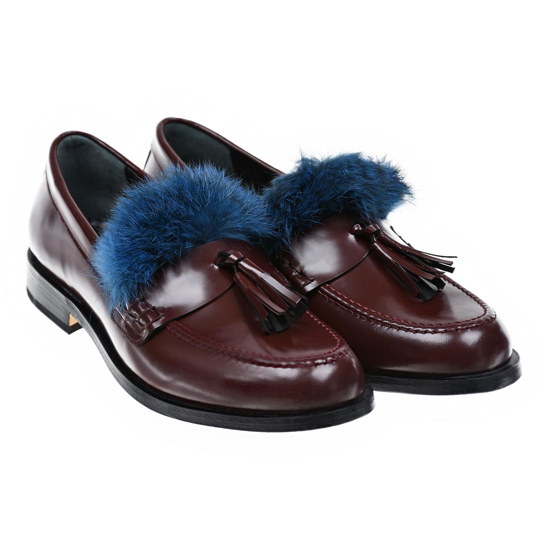 Ботинки низкие с меховой опушкой Gallucci