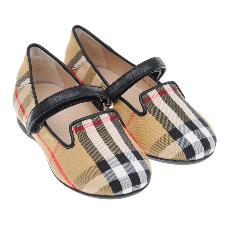 Купить Текстильные туфли в клетку Vintage Check , Burberry