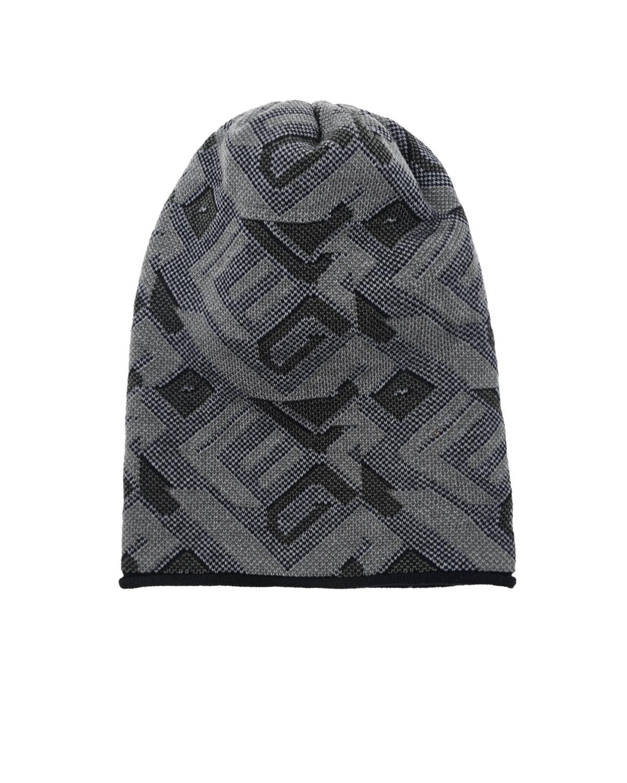 ШапкаШапки<br>Удлиненная вязаная шапка Catya из натуральной шерсти с геометрическим узором.