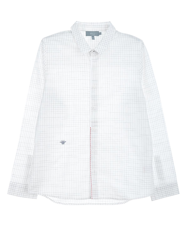 Купить Рубашка в клетку с контрастной отделкой Dior