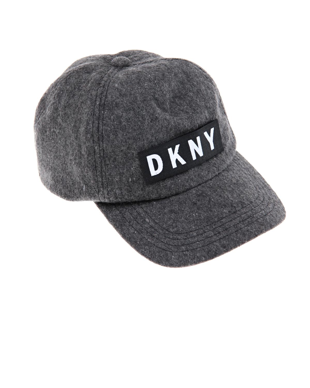 Бейсболка серого цвета с логотипом DKNY