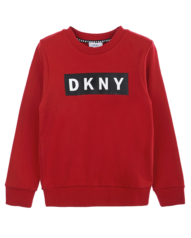 Красный свитшот с логотипом DKNY