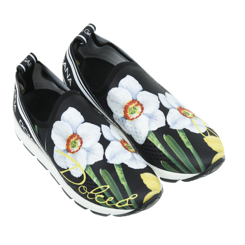 Купить со скидкой Текстильные кроссовки с цветочным принтом Dolce&Gabbana