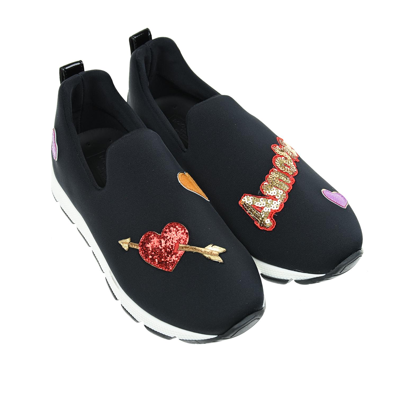 Кроссовки из текстиля с аппликациями и пайетками Dolce&Gabbana