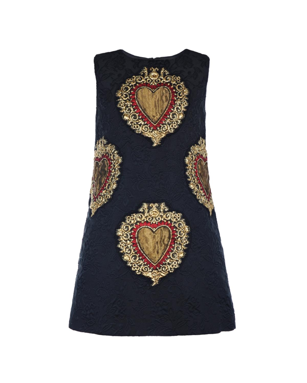 Жаккардовое платье с нашивками Dolce&Gabbana