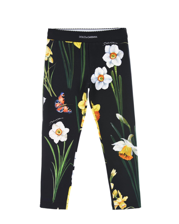Купить Леггинсы с цветочным принтом, Dolce&Gabbana