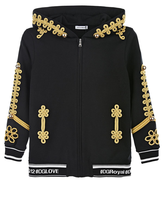 Купить Толстовка из хлопка с декоративной отделкой, Dolce&Gabbana