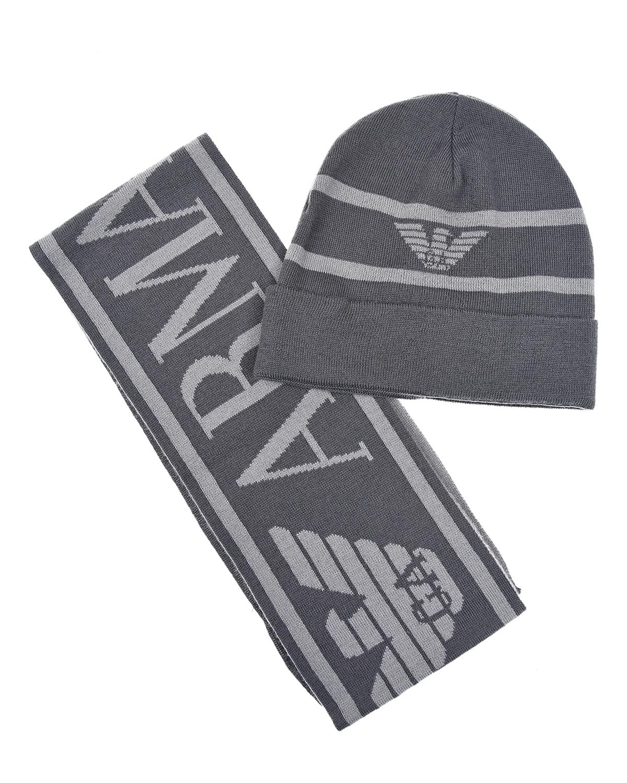Купить Комплект из шапки и шарфа, Emporio Armani