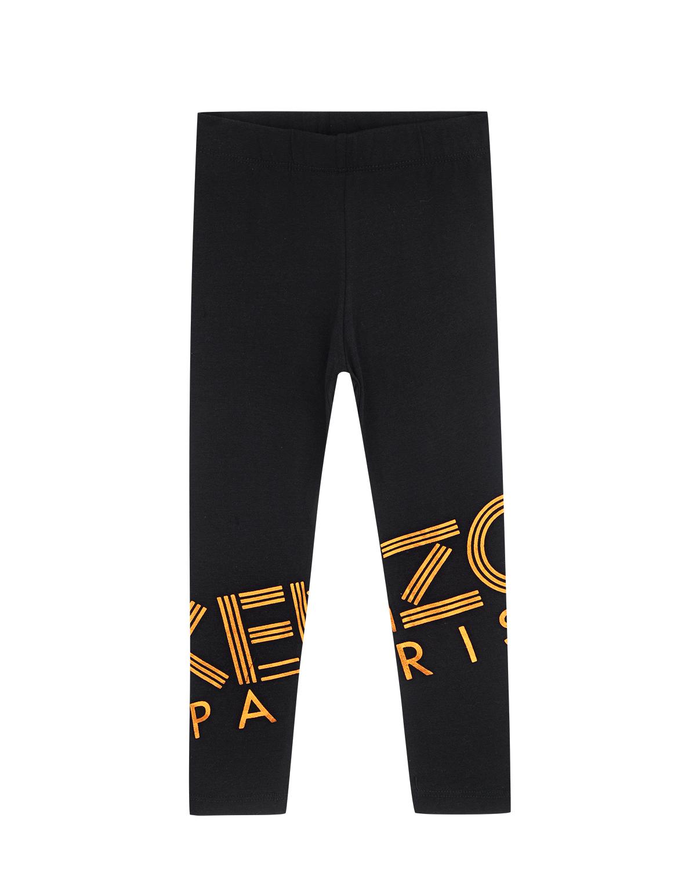 Купить со скидкой Леггинсы черного цвета с логотипом KENZO