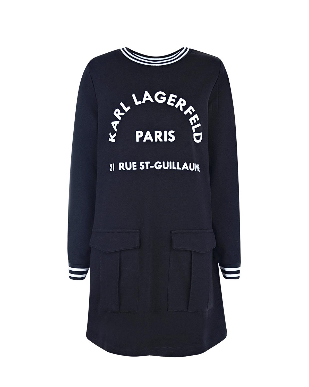 Купить Платье прямого кроя с логотипом, Karl Lagerfeld