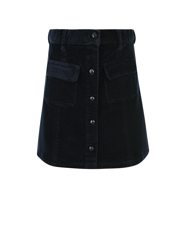 Купить со скидкой Мини-юбка с карманами из вельвета