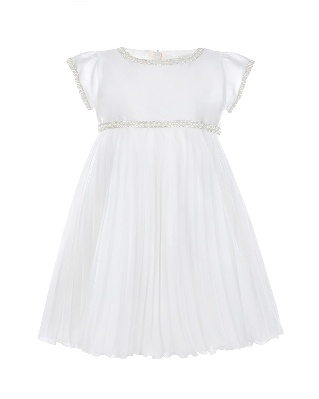 Купить Платье с плиссированной юбкой и декором из бусин и страз Lesy