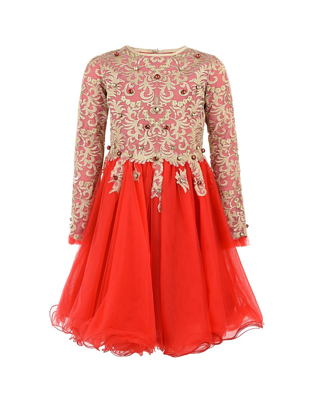 Купить Платье с вышивкой и кристаллами Lesy