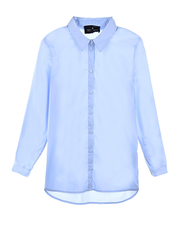 Однотоннная рубашка с асимметричным подолом Little Remix