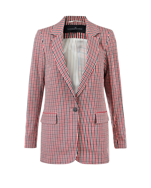 Купить со скидкой Удлиненный пиджак в клетку